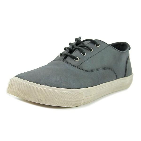 Aldo Jon Men Round Toe Leather Black Sneakers