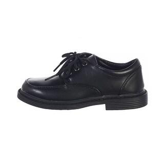 Little Boys Black Lace Up Matte Special Occasion Dress Shoes 11-5 Kids