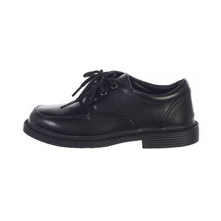 Toddler Boys Black Lace Up Matte Special Occasion Dress Shoes 5-10