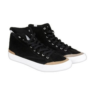Huf Classic Hi Mens Black Suede High Top Lace Up Sneakers Shoes