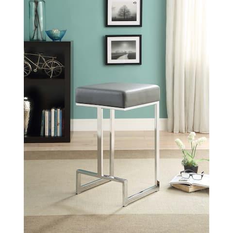 Farrier Chrome Leg Upholstered Counter Stool