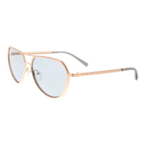 2fd1cb0b0b4d Michael Kors MK1036 110887 Madrid Rose Gold Aviator Sunglasses - 57-15-140