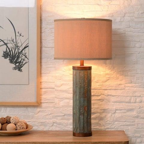 Bartoe Slate and Copper 3-way Table Lamp