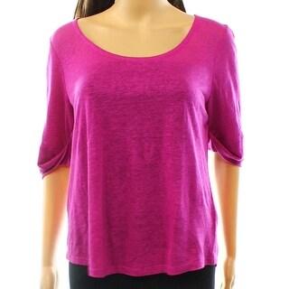 Lauren By Ralph Lauren NEW Purple Women's Size XL Scoop Neck Knit Top