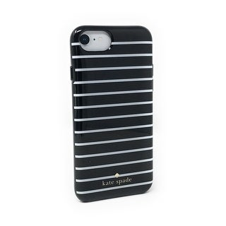 Kate Spade New York Surprise Stripe Protective Case for iPhone 8 / iPhone 7 / iPhone 6, Black / White