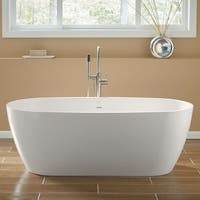 "Mirabelle MIROCFS6632 Ocala 66"" Free Standing Soaking Tub with Center Drain - White - N/A"