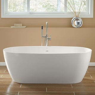 "Mirabelle MIROCFS6632 Ocala 66"" Free Standing Soaking Tub with Center Drain - White"