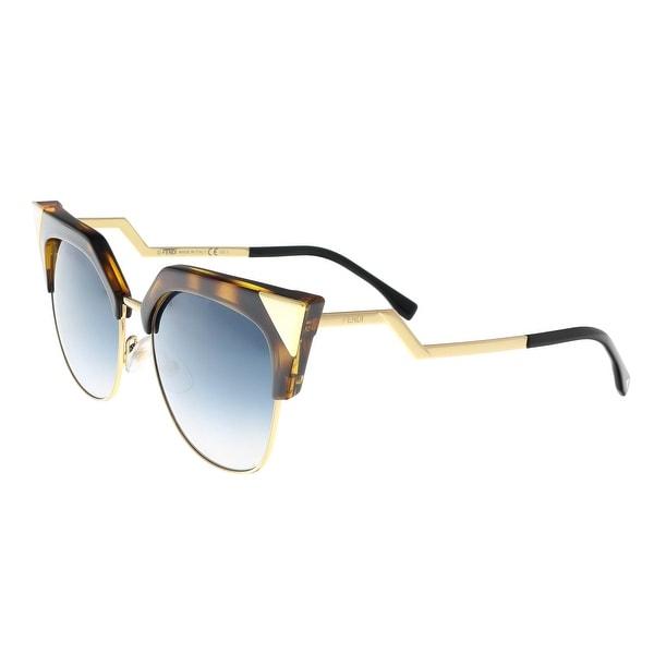 2a8fdd94d2a46 Shop Fendi FF 0149 S 0TLW Iridia Havana Gold Cateye Sunglasses - 54 ...