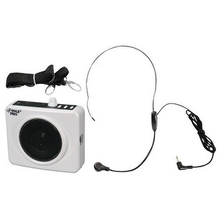 50 Watts Portable, USB Waist-Band Portable Pa System With A Headset Microphone w/Built In Rechargeable Batteries(Color White)