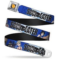 Soul Eater Logo Full Color Black Orange Soul Eater 4 Character Pose Clouds Seatbelt Belt