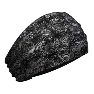 That's A Wrap Women's Tooled Leather Look Knotty Band Headwrap, KB3025-Black - One Size Fits most