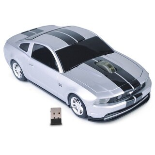 3-Button Road Mice Ford Mustang GT 2.4GHz Wireless Optical Scroll Mouse