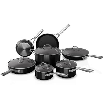 Ninja C19200 Foodi NeverStick 12-Piece Cookware Set, Black