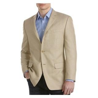 Michael Kors MK Blazer 36 Regular 36R Tan Tonal Check 2 Button Sportcoat