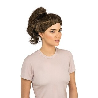 Womens Ghostbusters Abby Yates Brown Ponytail Wig