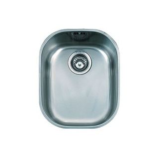 """Franke CPX11013 Compact 16-1/2"""" Single Basin Undermount 18-Gauge Stainless Steel Bar Sink"""