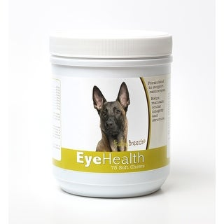 Healthy Breeds Belgian Malinois Dog Eye Care Support Soft Chews 75 Count