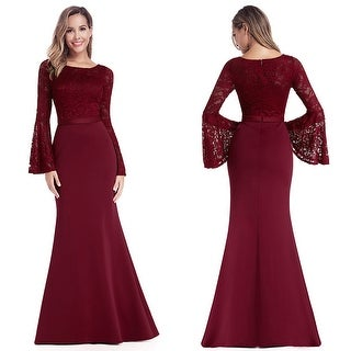 Ever-Pretty Womens Floral Lace Mermaid Evening Dresses for women 0914