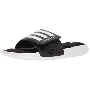 4308e22eaa31 ... ebay adidas mens superstar slide black white black 3ba57 122f5