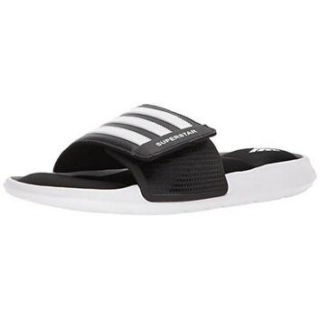 Adidas Mens Superstar Slide, Black/White/Black