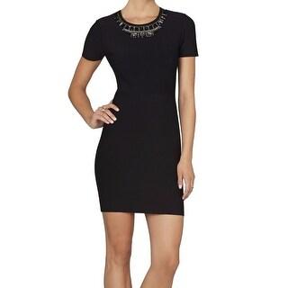 BCBG Max Azria NEW Black Women's Size Small S Stretch Bodycon Dress $398 #476