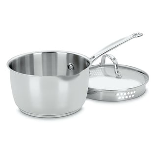 Cuisinart 719-18P Pour Saucepan With Lid, 2 Quart, Stainless Steel