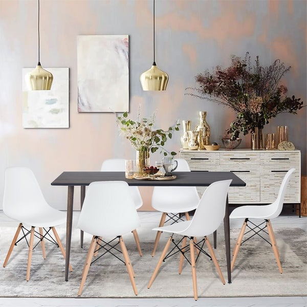 Furniture R 7-Pieces Mid-century Modern Rectangular Dining Set. Opens flyout.