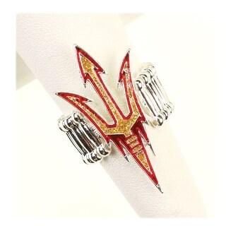 Arizona State University Crystal Logo Stretch Ring