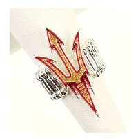 Arizona State University Crystal Logo Stretch Ring