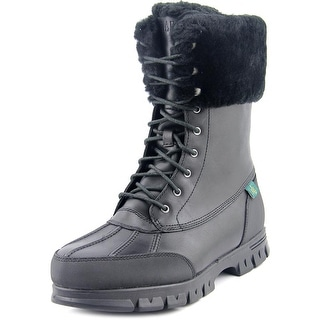 Lauren Ralph Lauren Quinta Women  Round Toe Leather Black Winter Boot