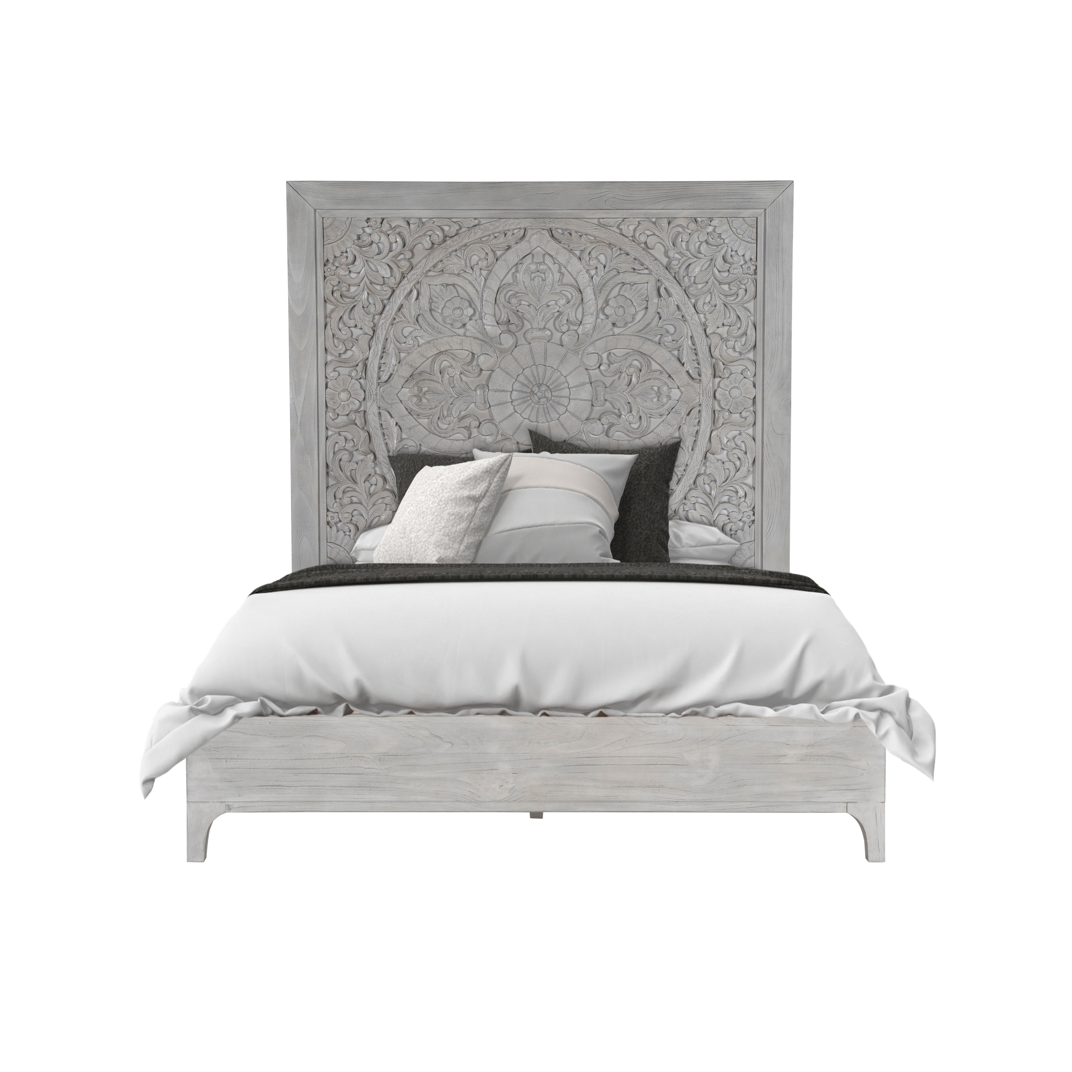 Boho Chic Bed in Washed White   Overstock   20