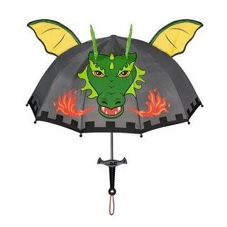 Boys Grey Child Size Lightweight Ears Dragon Knight Umbrella
