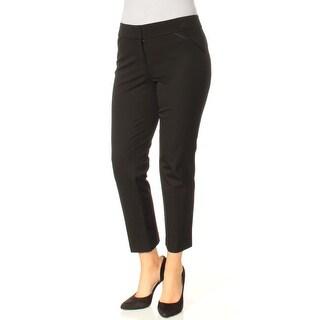 Womens Black Wear To Work Straight leg Pants Size 4