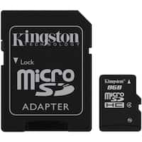 Kingston - 8GB MicroSD Class 4 with SD Adapter