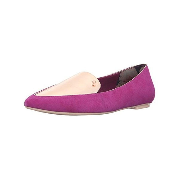Ted Baker Womens Oleshky Loafers Metallic Pointed Toe