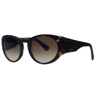 Tod's TO0061/S 52F Dark Havana Oval Sunglasses - Dark Havana - 53-19-130