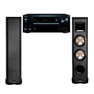 BIC Acoustech PL-89 Tower Speakers with Onkyo TX-NR676 Receiver