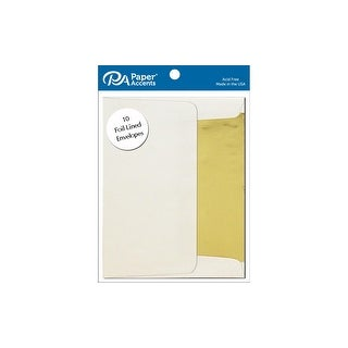 Envelope 5.25x7.25 10pc Gold Lined Cream