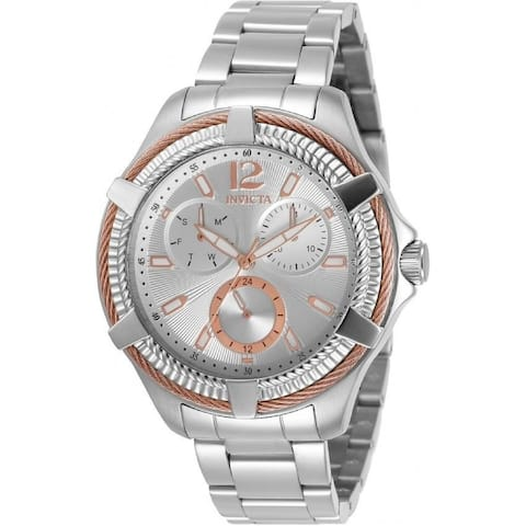 Invicta Women's 30899 'Bolt' Stainless Steel Watch - Silver