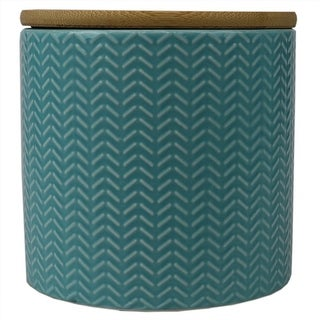 Link to Wave Small Ceramic Canister, Turquoise Similar Items in Kitchen Storage