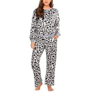 Link to Women's Pajamas Set Long Sleeve Top and Pants Nightwear Loungewear Set Similar Items in Loungewear