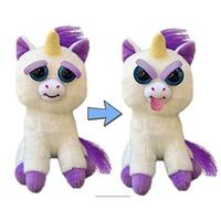 "Feisty Pets 8"" Plush, Glenda Glitterpoop the Unicorn (Tongue Out) - multi"
