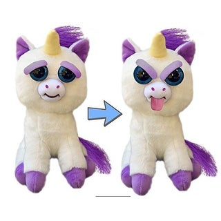 "Feisty Pets 8"" Plush, Glenda Glitterpoop the Unicorn (Tongue Out) - multi"