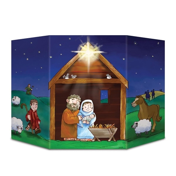 "Pack of 6 Christmas Nativity Scene Stand-Up Cutouts Decorations 37"" - multi"