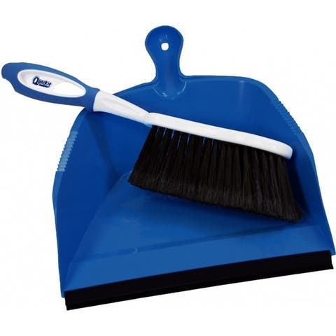 Quickie 410 HomePro Convenient Dust Pan & Flagged Fibers Brush Set