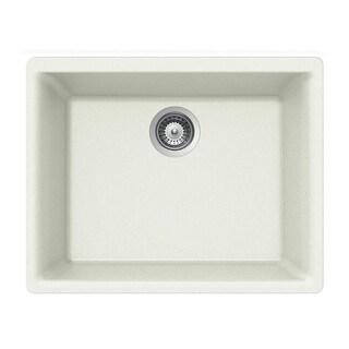 "Houzer G-100U Quartztone 24"" Undermount Single Basin Granite Composite Kitchen Sink (Option: taupe)"