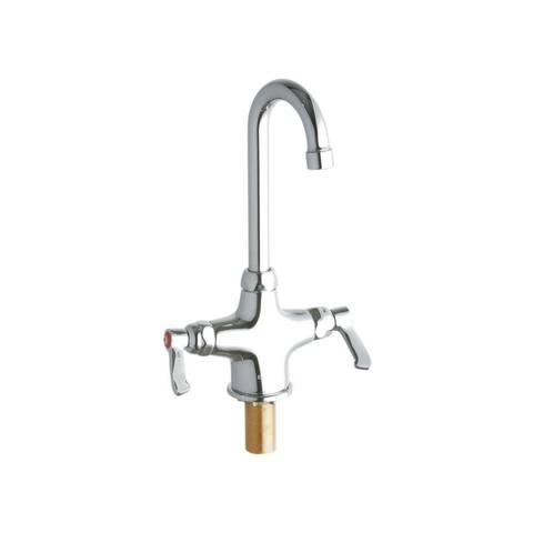 "Elkay LK500GN04L2 11-5/16"" ADA Single Hole Concealed Deck Utility Faucet with 3-5/8"" Reach Gooseneck Spout -"