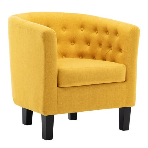 Corvus Oxonia Tufted Fabric Club Chair