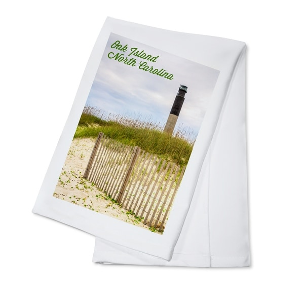 Oak Island, NC - Lighthouse - LP Photography (100% Cotton Towel Absorbent)