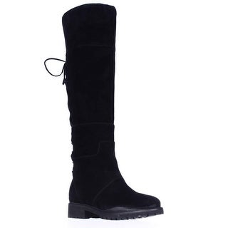 Nine West Mavira Lace Up Over-The-Knee Boots, Black